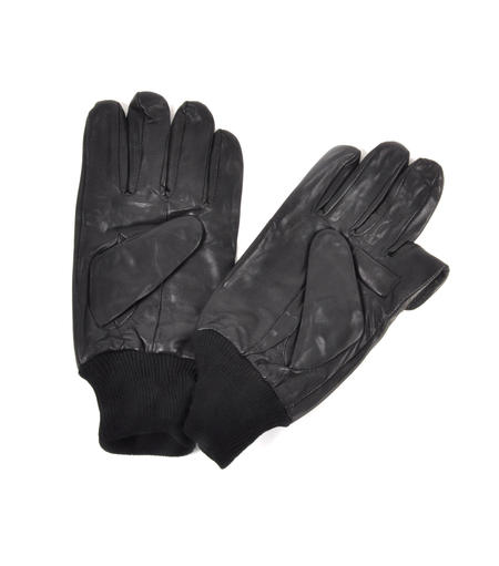 Trigger Finger Black Leather Shooting Gloves - Large