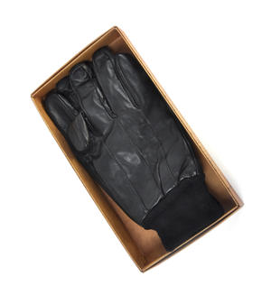 Trigger Finger Black Leather Shooting Gloves - Large Thumbnail 2