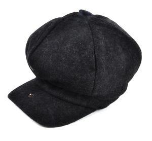 Grey 6 Panel News Boy / Baker Boy Wool Cap - Large Peaky Blinders Thumbnail 4