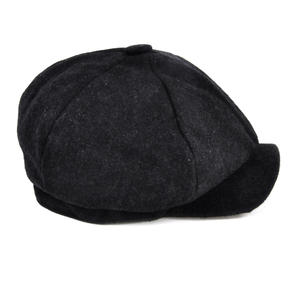 Grey 6 Panel News Boy / Baker Boy Wool Cap - Large Peaky Blinders Thumbnail 5