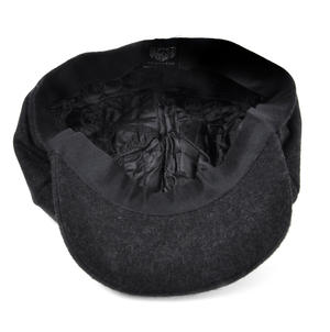 Grey 6 Panel News Boy / Baker Boy Wool Cap - Large Peaky Blinders Thumbnail 6