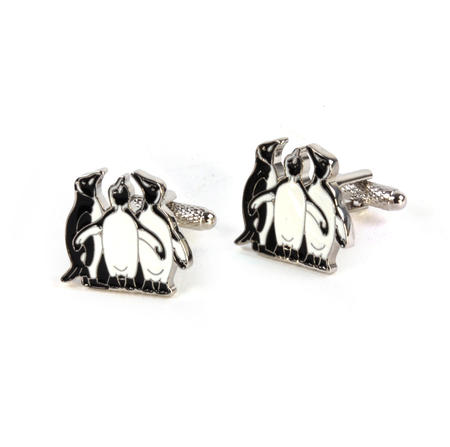 Cufflinks - Three Penguins