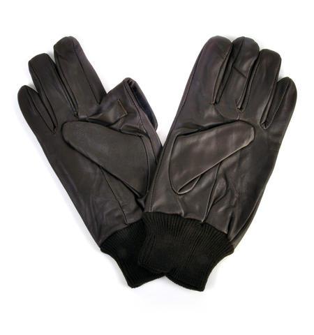 Trigger Finger Brown Leather Shooting Gloves - Large