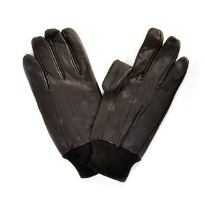 Trigger Finger Brown Leather Shooting Gloves - Large Thumbnail 4
