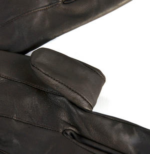 Trigger Finger Brown Leather Shooting Gloves - Large Thumbnail 5