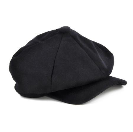 Blue 6 Panel News Boy / Baker Boy Wool Cap - Large Peaky Blinders