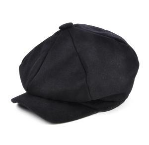 Blue 6 Panel News Boy / Baker Boy Wool Cap - Large Peaky Blinders Thumbnail 2