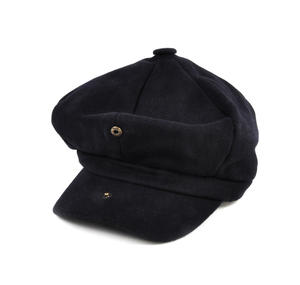 Blue 6 Panel News Boy / Baker Boy Wool Cap - Large Peaky Blinders Thumbnail 3