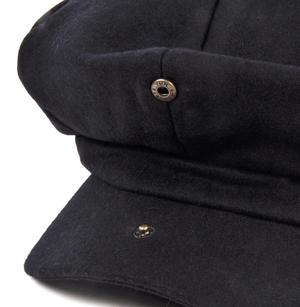 Blue 6 Panel News Boy / Baker Boy Wool Cap - Large Peaky Blinders Thumbnail 4