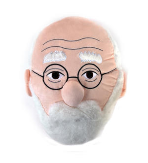 Sigmund Freud Plush Cushion / Pillow by The Unemployed Philosophers Guild