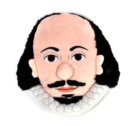 William Shakespeare Plush Cushion / Pillow by The Unemployed Philosophers Guild
