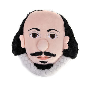 William Shakespeare Plush Cushion / Pillow by The Unemployed Philosophers Guild Thumbnail 2