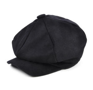 Blue 6 Panel News Boy / Baker Boy Wool Cap - Medium Peaky Blinders Thumbnail 2