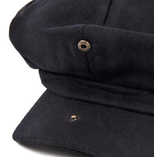 Blue 6 Panel News Boy / Baker Boy Wool Cap - Medium Peaky Blinders Thumbnail 4