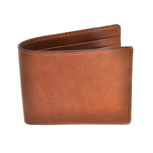 Full Grain Tan Leather Bi-Fold Wallet