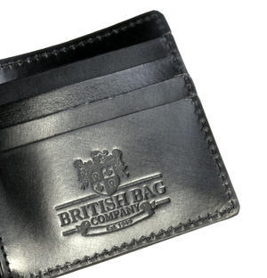Full Grain Black Leather Bi-Fold Wallet Thumbnail 1
