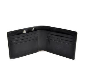 Full Grain Black Leather Bi-Fold Wallet Thumbnail 3