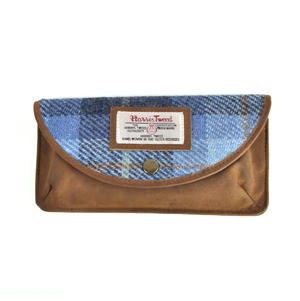 Blue Castle Bay Harris Tweed Glasses Case