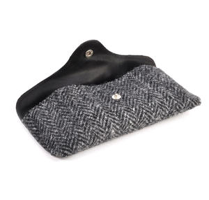 Grey Harris Tweed Herringbone Glasses Case Thumbnail 2