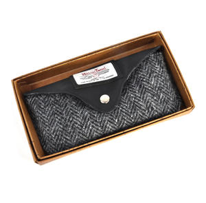 Grey Harris Tweed Herringbone Glasses Case Thumbnail 3