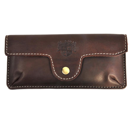 Brown Pull Up Leather Glasses Case