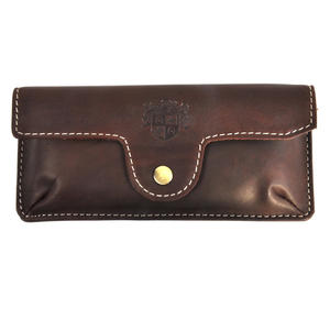 Brown Pull Up Leather Glasses Case Thumbnail 1