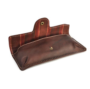 Brown Pull Up Leather Glasses Case Thumbnail 2