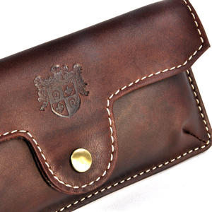Brown Pull Up Leather Glasses Case Thumbnail 3