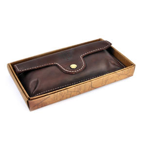 Brown Pull Up Leather Glasses Case Thumbnail 4