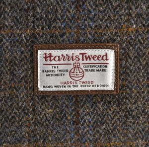 Harris Tweed Covered Suitcase by The British Bag Company - Brown Trim Thumbnail 5