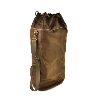 Sea Sack - Full Size Cylinder Kit Bag - Heavy Green Khaki Canvas & Leather Thumbnail 6