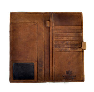 Blue Castle Bay Harris Tweed Travel Documents Wallet by The British Bag Company Thumbnail 2