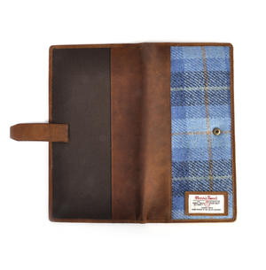Blue Castle Bay Harris Tweed Travel Documents Wallet by The British Bag Company Thumbnail 3