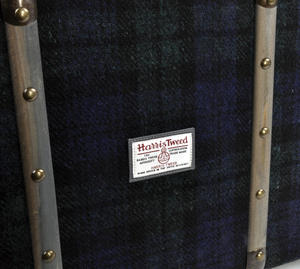 Harris Tweed Covered Suitcase by The British Bag Company - Brown Trim Thumbnail 3