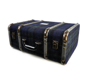 Harris Tweed Covered Suitcase by The British Bag Company - Brown Trim Thumbnail 4
