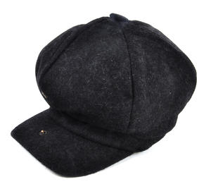 Grey 6 Panel News Boy / Baker Boy Wool Cap - Medium Peaky Blinders Thumbnail 4
