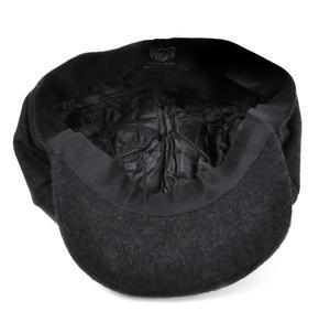Grey 6 Panel News Boy / Baker Boy Wool Cap - Medium Peaky Blinders Thumbnail 6