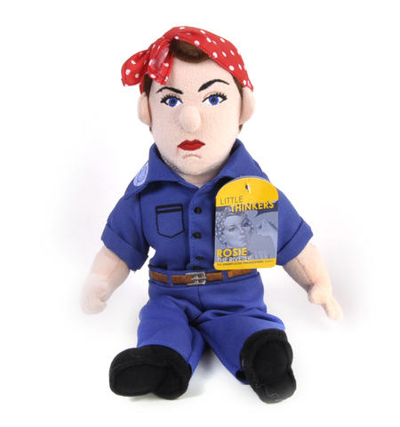 Rosie the Riveter Soft Toy - Little Thinkers Doll