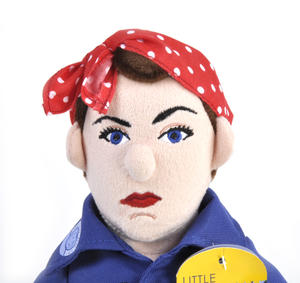 Rosie the Riveter Soft Toy - Little Thinkers Doll Thumbnail 3