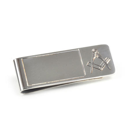 Masonic Money Clip - Hall Marked Sterling Silver