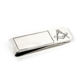 Masonic Money Clip - Hall Marked Sterling Silver Thumbnail 2