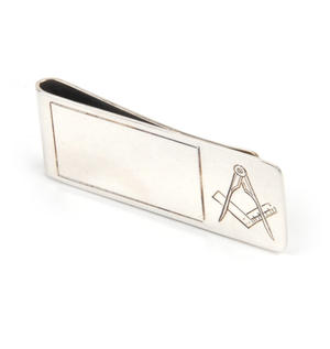 Masonic Money Clip - Hall Marked Sterling Silver Thumbnail 3