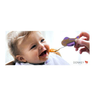 Kid's Aeroplane Spoon - Purple Thumbnail 2