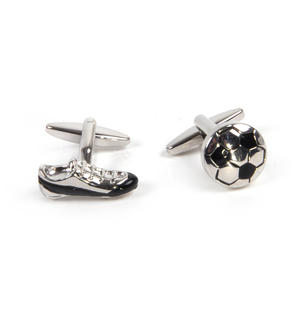 Cufflinks - Football and Football Boot - Footballer Thumbnail 3