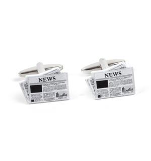 Cufflinks - Newspapers - Journalist