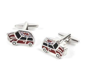 Rhodium Cufflinks - Union Jack Mini Cooper Thumbnail 2