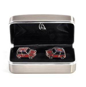 Rhodium Cufflinks - Union Jack Mini Cooper Thumbnail 3