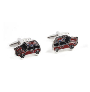 Rhodium Cufflinks - Union Jack Mini Cooper Thumbnail 4