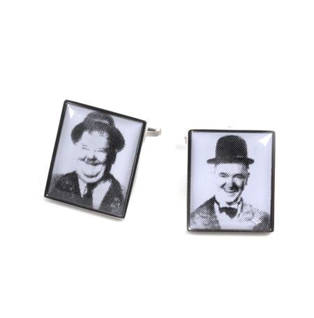 Cufflinks - Laurel and Hardy