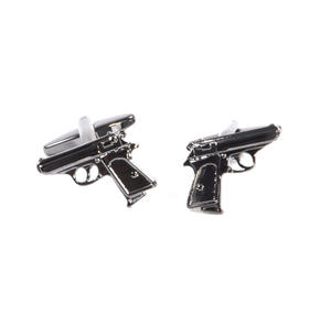 Gun Metal Cufflinks - Walther PPK - Classic Handgun of 007 James Bond